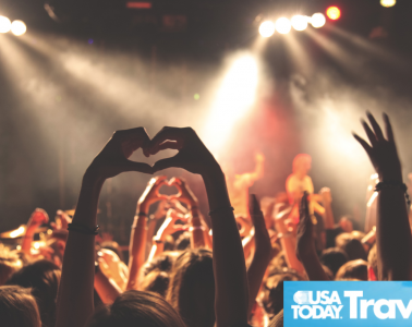 USA Today logo on a photo of a concert