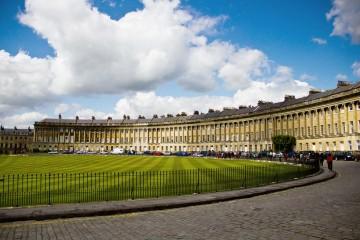 Circular lawn of grass in England
