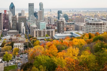 Aerial shot of Montreal