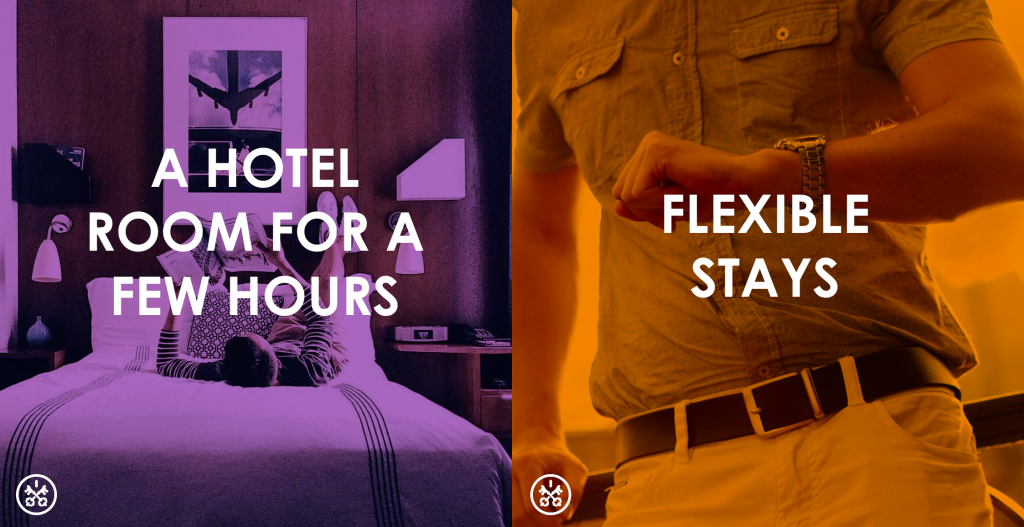 HotelsByDay offers flexible stay daytime hotel rooms for a few hours.