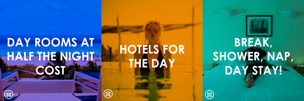 Get a day room at half the price of overnight hotel to make your trip easier