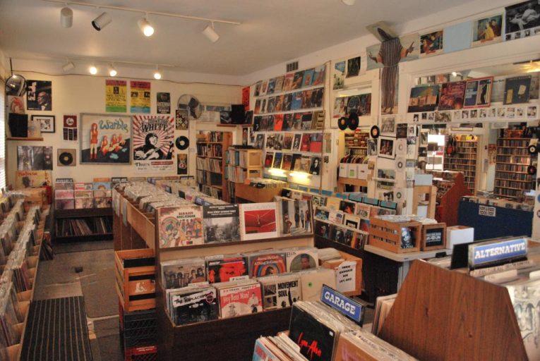 View of interior of Shangri-La Records in Memphis.