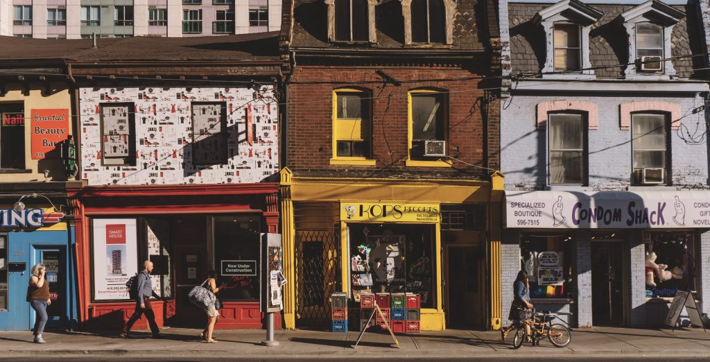 Eclectic storefronts of West Queen West offer myriad day stay activities.